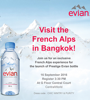 Evian new bottle