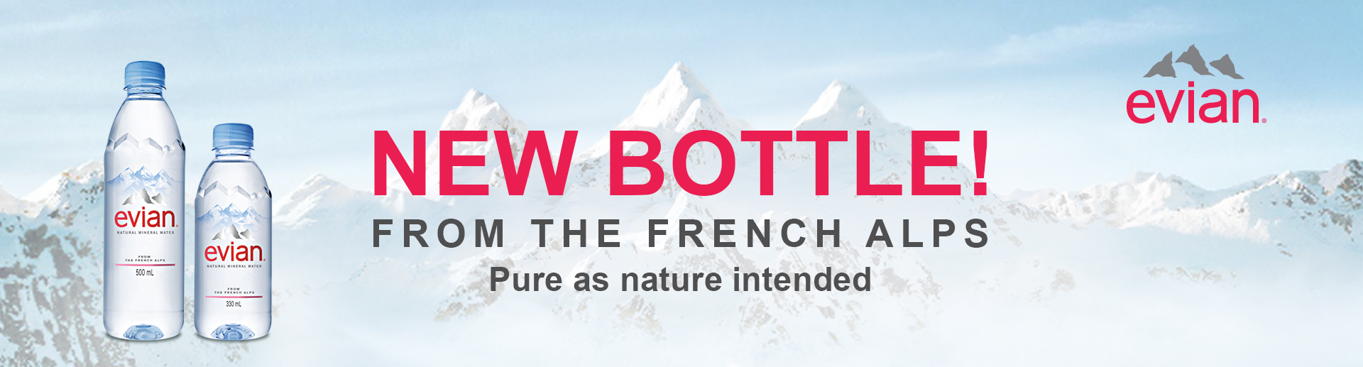 Evian new bottle - CHAWAWA One Stop Marketing Service